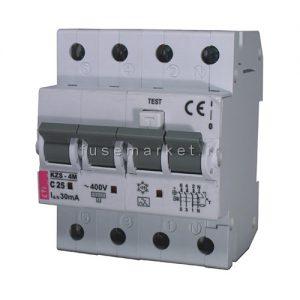 کلید جریان نشتی تركيبي 03/RCBO KZS 1M 10KA AC/C ( FN ) 25 A 0 کد 2175526