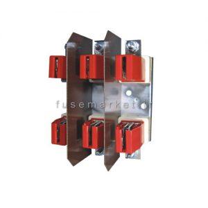 پايه فيوز كاردي ای تی آی ETI فلزی بدون حفاظ PK2 3P 400A کد 4132004
