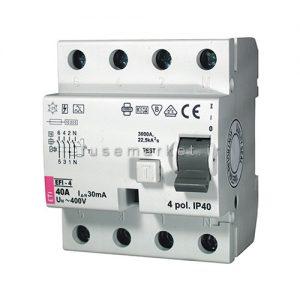 کلید جریان نشتی ای تی آی ETI RCCB EFI 1P+N AC 0.03 40 A