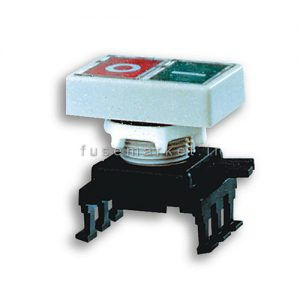 کلید شستی دوبل مشکی، استپ استارت، بدون کنتاکت، چراغ خور کد 4770152