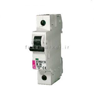 کلید مینیاتوری ای تی آی ETI ETIMAT10 C 1P+N 10KA 1/6A